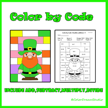 St.Patrick's Day Color by Code: Leprechaun Basic Math Facts