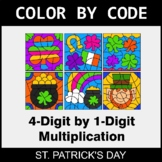 St. Patrick's Day Color by Code - Multiplication: 4-Digit