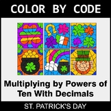 St. Patrick's Day Color by Code - Multiplying by Powers of