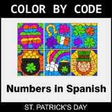 St. Patrick's Day Color by Code - Numbers in Spanish