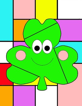 St.Patrick's Day Color by Code: Shamrok  Basic Math Facts