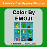 St. Patrick's Day: Color by Emoji - Mystery Pictures