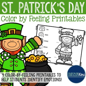 St Patrick's Day Color by Feeling Printables - Elementary School Counseling