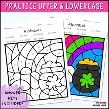 St. Patrick's Day Color by Letter | St. Patrick's Day Alphabet Coloring Pages