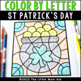 St. Patrick's Day Color by Letter | St. Patrick's Day Alph