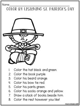 St. Patrick's Day Color by Listening (A Following Directions Activity)