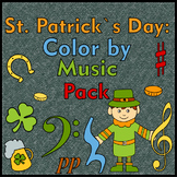 St. Patrick`s Day Music Coloring Pages | Color by Note | Bundle