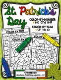 St. Patrick's Day Color-by-Number 1-10 & 11-19 and Color-by-Sum (up to 10)