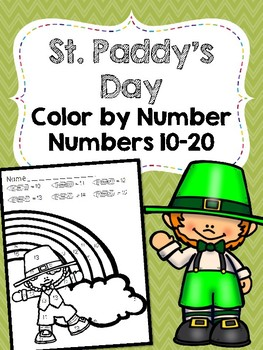 St. Patrick's Day Color by Number (#11-20)