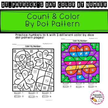 St. Patrick's Day Color by Number Math Activity