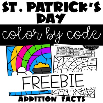 St. Patrick's Day Color by Number Addition Facts