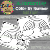 St. Patrick's Day: Color by Number Coloring Page (English