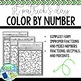 St. Patrick's Day / March Math Color by Number - Differentiated Fractions