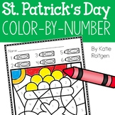St. Patrick's Day Color-by-Number Pages