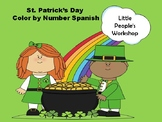 St.Patrick's Day Color by Number Spanish