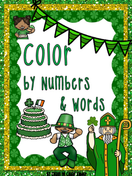 St. Patrick's Day Color by Number & Word