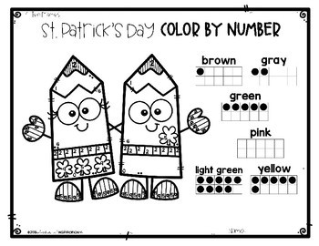 St. Patrick's Day Color by Number by Education and Inspiration