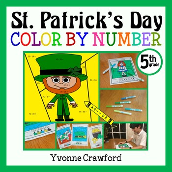St. Patrick's Day Color by Number (fifth grade) Color by Decimals, Fractions