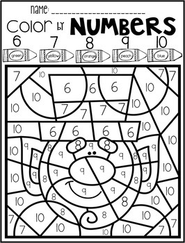 St. Patrick's Day Color by Code Numbers 1-10 Activities