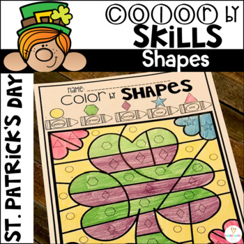 St. Patrick's Day Color by Shapes
