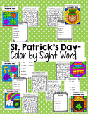 St. Patrick's Day Color by Sight Word