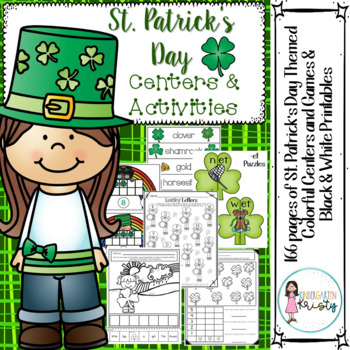 St. Patrick's Day Colorful Centers & B/W Printables