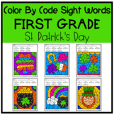 St. Patrick's Day Coloring Pages | First Grade Color By Si