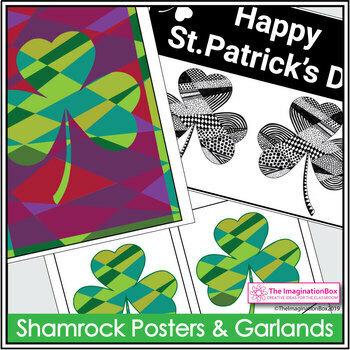 St. Patrick's Day Art Activity - Shamrock Doodles