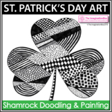 St. Patrick's Day Art Activity - Shamrock Doodles