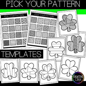 St. Patrick's Day Coloring Pages: Doodle Shape Shamrock {Made by Creative Clips}