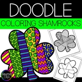 St. Patrick's Day Coloring Pages: Doodle Shape Shamrock {M
