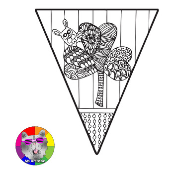 St. Patrick's Coloring Pages, Pennant Banner