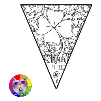 St. Patrick's Day Coloring Pages, Pennant Banner