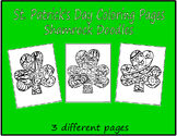 St. Patrick's Day Coloring Pages ShamrocK Doodles