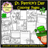 St. Patrick's Day Coloring Pages & Writing Prompts / Papers(School Designhcf)