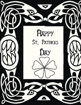 St Patrick's Day Coloring Sheet Freebie