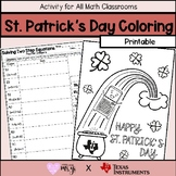 St. Patrick's Day Coloring Sheet: Two Step Equation