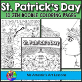 St. Patrick's Day Coloring Pages, Zen Doodles