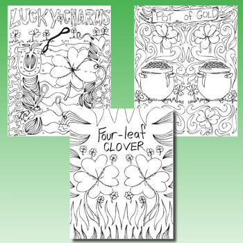 St. Patrick's Day Coloring Pages, Zen Doodles