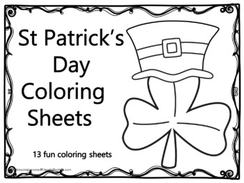 St Patrick's Day Coloringsheets