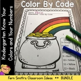 St. Patrick's Day Color by Code Know Your Colors and Know