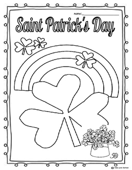St. Patrick's Day-FOUR-Colouring pages-English Version