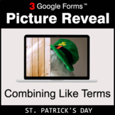 St. Patrick's Day: Combining Like Terms - Google Forms Mat