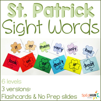 St. Patrick's Day Common Sight Words