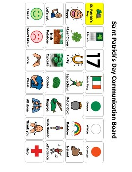 St. Patrick's Day Communication Board/ AAC
