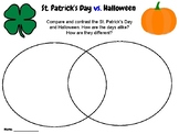 St. Patrick's Day - Compare & Contrast Writing Activity