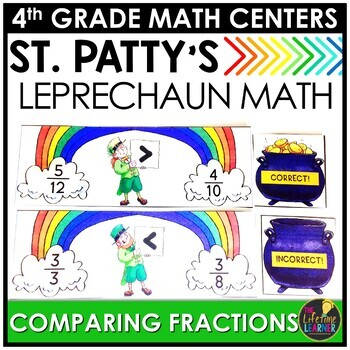 St. Patrick's Day Comparing Fractions Game