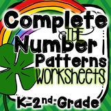 St. Patrick's Day Complete the Number Pattern Worksheets