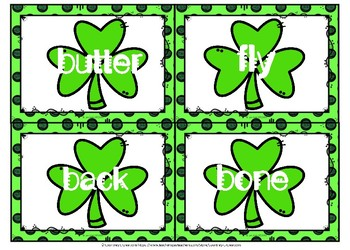 St. Patrick's Day Compound Words Cards and Worksheet
