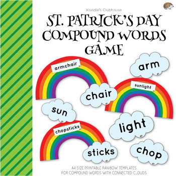 St.Patrick's Day Compound Words Rainbow Game
